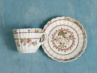 OLD MARK Copeland Spode COWSLIP Wicker Cup Saucer England