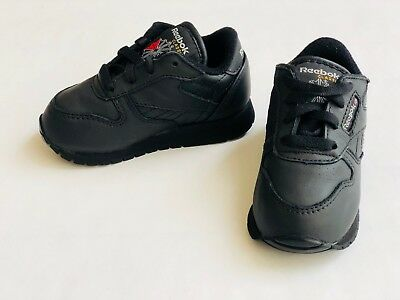 51a81b9186c05 REEBOK 92757  INFANT TODDLER Classic Leather Black Sneaker -  40.00 ...