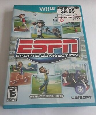 ESPN Sports Connection, Wii U, Tested, Working, Complete, CIB