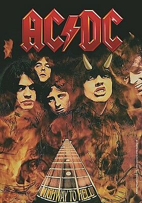 Ac/Dc Highway To Hell Grandes Tela Póster/Bandera 1100mm X 750mm (Hr)