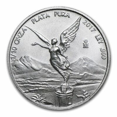 2017 Mexican Libertad 1/10 oz .999 Silver BU Round Very Limited Bullion Coin