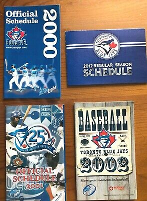 4-MLB Pocket Schedules-Toronto Blue Jays** 2000-01-02-2012*25th Anniv-FreeShip!!