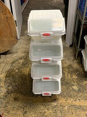 Used (PLEASE CLEAN BEFORE USE) Rubbermaid Commercial ProSave Shelf-Storage bins