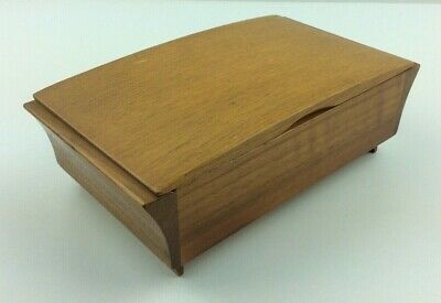 Antique Vintage Old Bond Street Wooden Art Deco Desk Top Cigar / Cigarette Box