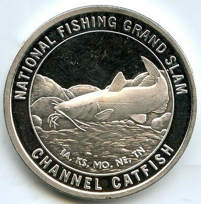 Channel Catfish .999 Silver Medal Round - National Fishing Grand Slam 1 oz AB363