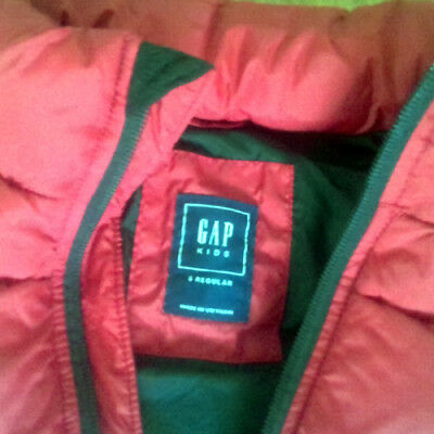 Genuine GAP Kids Boy's Puffer Vest Red Size S Regular (6-7 yrs)