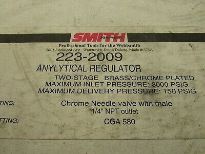 Smith 223-2009 Anylytical Regulator