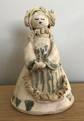 Vintage Art Studio Pottery Figure/Statue,Signed Betsy Ratzsch,Abstract Hearts