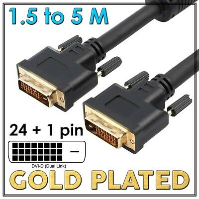DVI to DVI Cable Male DVI-D for LCD Monitor Computer PC Projector DVD HD TV Lead