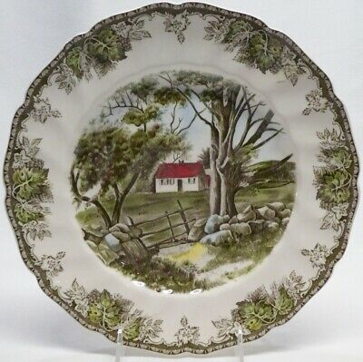 """Johnson Brothers """"Friendly Village""""  The Stone Wall 10 1/2"""" Dinner Plate"""