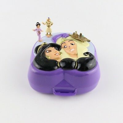 POLLY POCKET DISNEY 1995 Aladdin Playcase Compact *COMPLETE*