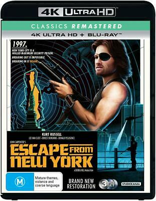 ESCAPE FROM NEW YORK (1981 2019 Remastered): Sc-Fi - Aus RgB 4K UHD + BLU-RAY