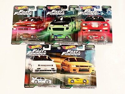 2019 Hot Wheels Premium Fast & Furious Original Wave 2 Full Set Lot Of 5