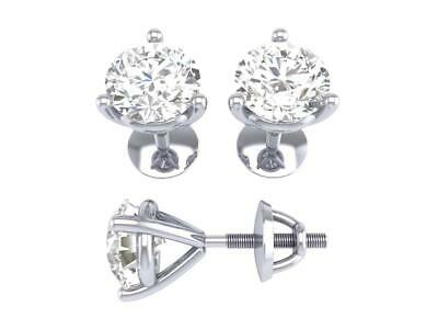 89ca1ad657dc1 3 PRONG MARTINI Solitaire Stud Earrings 0.60 Ct SI1 G Natural ...