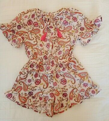 Seed Girls Paisley Playsuit size 5 Excellent condition