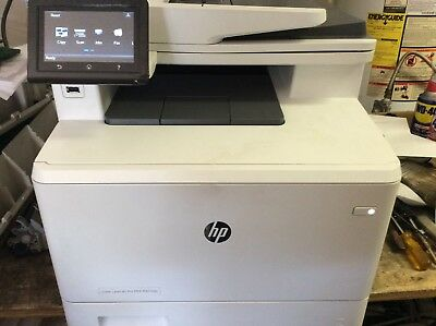 HP LASERJET PRO MFP M477fnw All-In-One Color Printer WITH REAR PAPER JAM