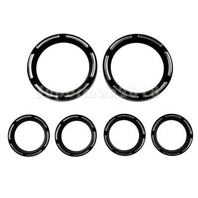 6pcs Instrument Board Burst Gauge Bezel Fit For Harley Electra Glide 1996-2013