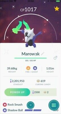 TRADE Shiny Alolan Marowak Pokemon go