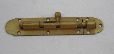 Large Antique Heavy Cast Brass Door Sliding Dead Bolt