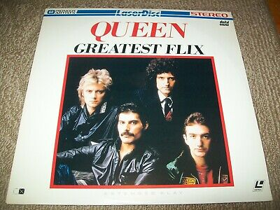 QUEEN: GREATEST FLIX Laserdisc LD VERY GOOD CONDITION VERY RARE MUSIC HITS