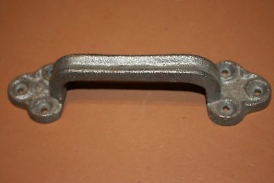 """(6) Large Rustic Americana Drawer Pulls, Unfinished Cast Iron, 8 7/8"""", HW-33"""