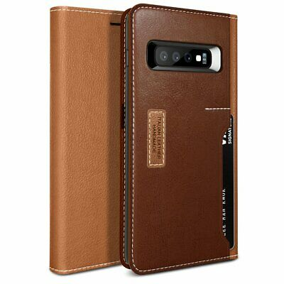 OBLIQ® Galaxy S10/S10+/S10e Cases [K3 Wallet] Hand Made Leather Wallet Case Cove