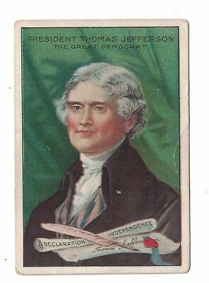T68 Royal Bengals Men of History Tobacco Card Thomas Jefferson 1911