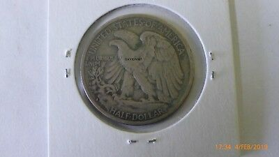 1935-S Walking Liberty Half Dollar In a 2 X 2 Holder.