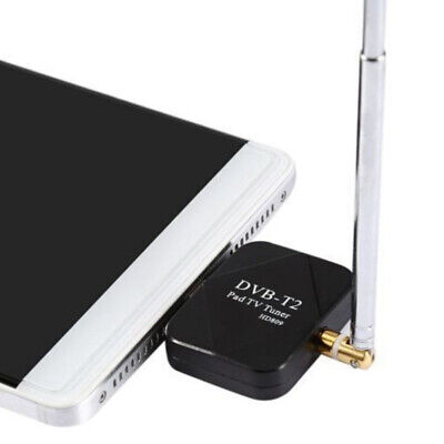 AU DVB-T/ T2 Micro USB Tuner TV Receiver + Antenna For Android Smartphone Tablet