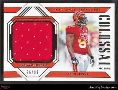 e563508c8c0 2018 Panini National Treasures Colossal Geno Atkins Pro Bowl Jersey Relic  26/99
