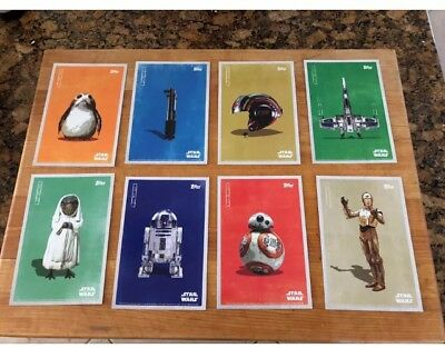 Star Wars (Last Jedi) Topps Cards Fan Event Exclusive Giveaway Complete Set