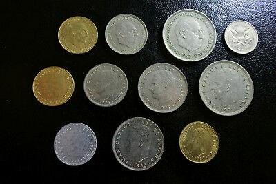 Spain 1957 - 1983 x 10 different coins