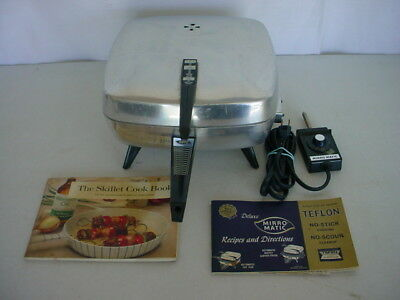 VTG MIRRO MATIC Immersible Aluminum Teflon Electric Frying Pan No Stick 0471-55