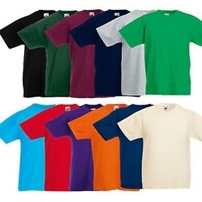 Kids' Clothes, Shoes & Accs. T-shirts & Tops Fruit Of The Loom Blank Plain Childrens Kids T-shirt 1-13 Years School Craft And To Have A Long Life.