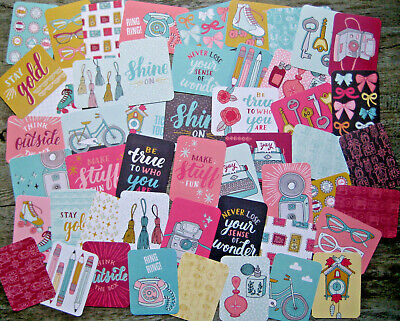 """'knick Knack' Project Life Cards By Becky Higgins - 3"""" X 4"""" - 50 Cards"""