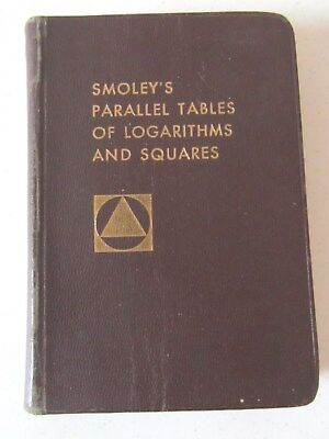 Smoley's Parallel Tables of Logarithms and Squares 1962  by C.K. Smoley