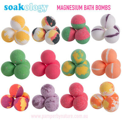 SOAKOLOGY Magnesium Bath Bombs - 12 Gorgeous Scents to choose from