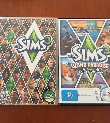 Sims 3 WIndows And Mac Plus Sims Island Paradise Mac Only