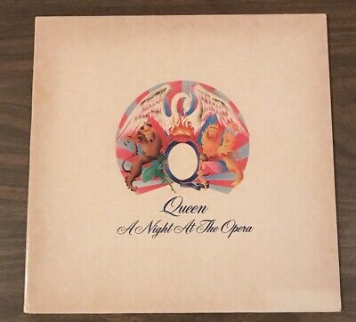 Queen A Night At The Opera Embossed Elektra Bohemian Rhapsody VG+ SP Press