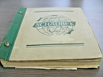 GERMANY, Post WWII, Excellent Stamp Collection hinged in a battered Schaubek