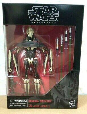 "HASBRO STAR WARS BLACK SERIES 6"" inch GENERAL GRIEVOUS ACTION FIGURE"
