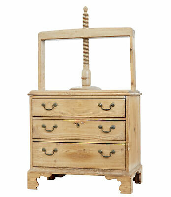 18Th Century Pine Book Press Chest Of Drawers