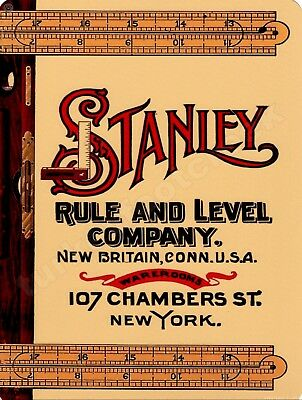 """STANLEY RULE AND LEVEL COMPANY  9"""" x 12"""" Sign"""