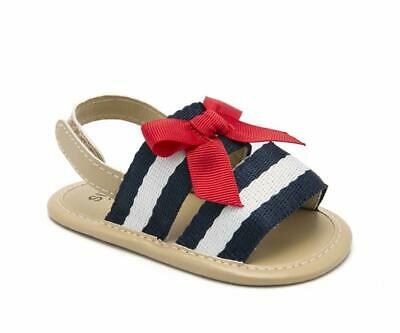 3e591956 Newborn Baby Girl Bowknot Crib Shoes Soft Sole Summer Sandals PreWalker  Trainers