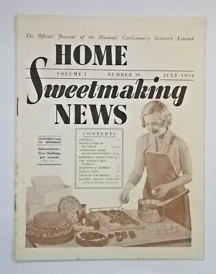 Home Sweetmaking News. volume 1, number 10. July 1934
