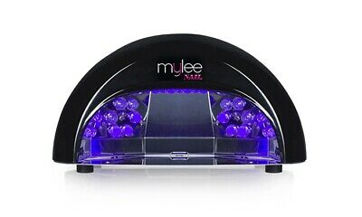 Mylee PROFESSIONAL BLACK 12W LED LAMP - FAST GEL MANICURE DRYER c/w TIMER - NEW