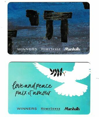 2 collectible WINNERS MARCHALLS HOMESENCE TJX STYLE+ gift card cards Canada 04
