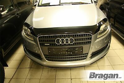 To Fit 2006 - 2015 Audi Q7 Smoked Hardened Acrylic Hood Bonnet Guard Shield