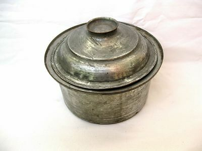 Antique VTG hand hammered copper pot Ottoman Turkish saucepan with lid Tinned