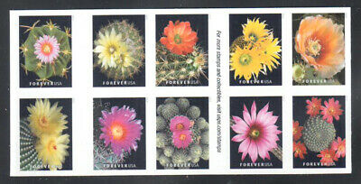SC#5350 - 5359a - Forever Cactus Flowers Booklet Block of 10 MNH